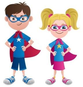 dzieci superbohaterowie